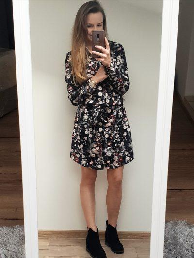 Sukienka Koszulowa Kwiaty II